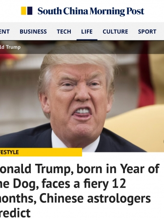 Interview with SCMP on Donald Trump and Year of the Dog